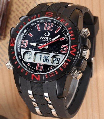 Pánske hodinky I-POLOW Row red black b777bbe7062