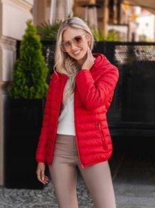 Dámska jesenná bunda Aliva red