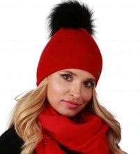 Dámska zimná čiapka Ferna červená