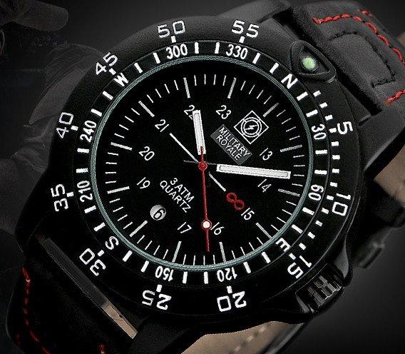 Army Black red Torsey pánske vojenské hodinky 235fa3a8680