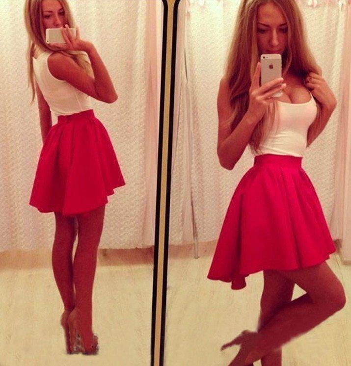 2e0051c252a ... Dámske šaty Slim bielo červené. Image 98