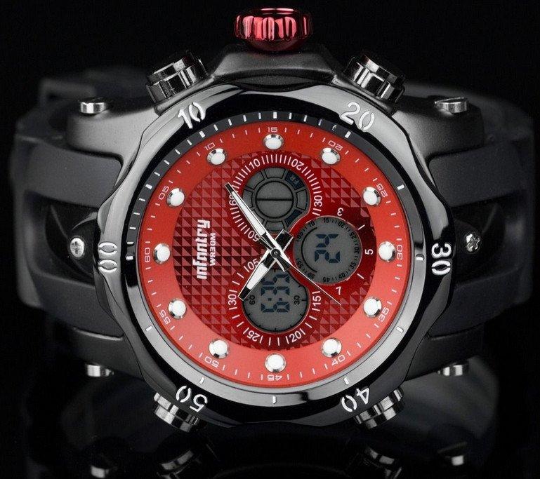Pánske hodinky Infan Galaxy red black 67f4989e1eb
