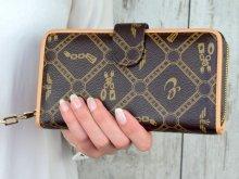 Dámska peňaženka Eslee hnedo/zlatá