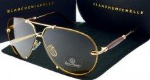 Dámske slnečné okuliare BM Aviator gold/brown
