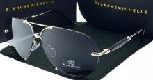 Pánske slnečné okuliare BM Aviator silver/gray