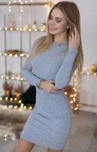 Dámske šaty Mirsa sivé