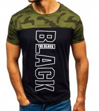Pánske tričko BLC black/camuflage