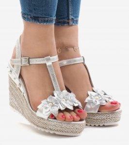 Dámska obuv sandále Moon strieborné