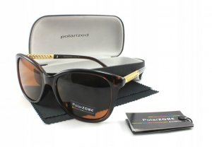 Dámske slnečné okuliare TSW brown/gold + puzdro