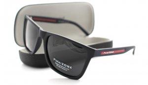 Pánske slnečné okuliare PolarZ black/red + puzdro