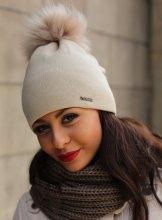 Dámska zimná čiapka Ferna béžová