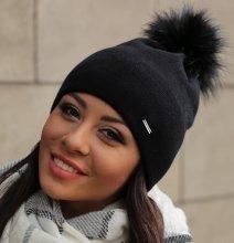 Dámska zimná čiapka Ferna čierna