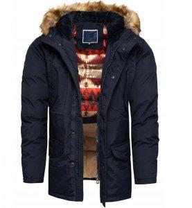 Pánska zimná bunda Aztec blue