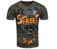 Pánske tričko DStretM khaki