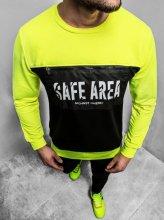 Pánska mikina Safe AREA žltá
