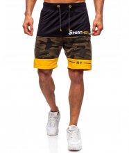 Pánske kraťasy S-HOT black/yellow