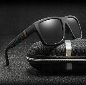 Pánske slnečné okuliare HF black+puzdro