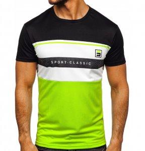 Pánske tričko S-Classic black/green
