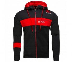 Mikina pánska Comfort black/red