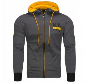 Mikina pánska NYSeed grey/yellow