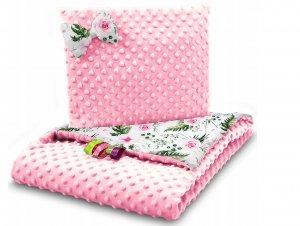 Minky set vankúš a deka floor/pink