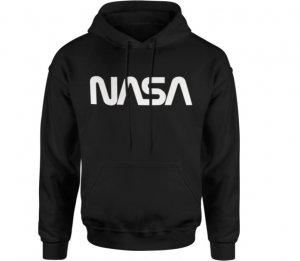 Pánska bavlnená mikina NASA Space black