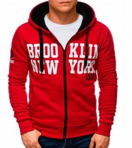 Pánska mikina s kapucňou NY red