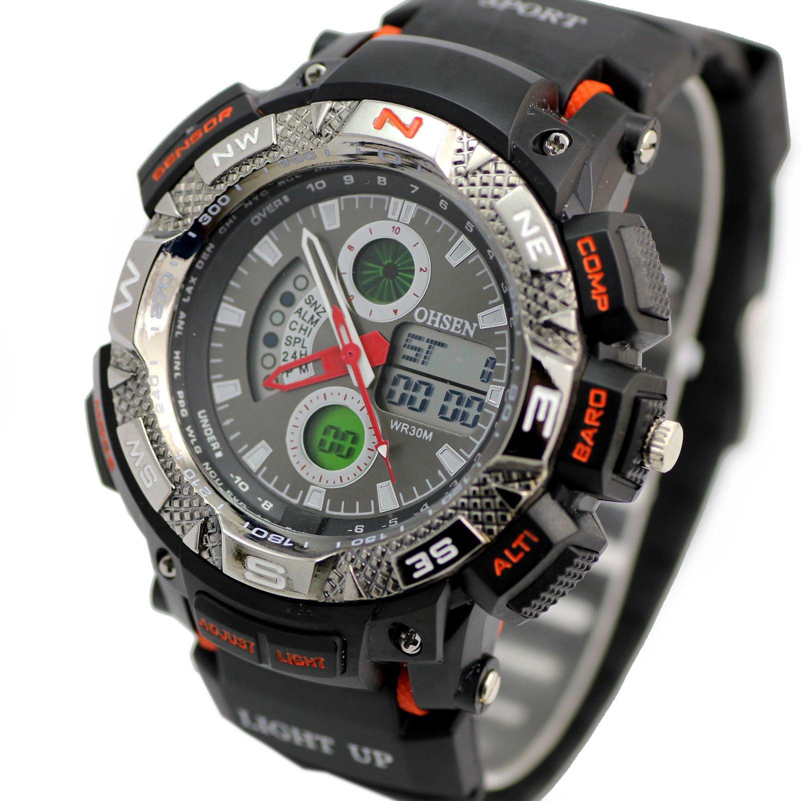 Pánske športové hodinky steel Ohsen 8311d0e2cbb